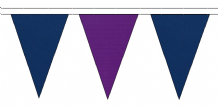 ROYAL BLUE AND PURPLE TRIANGULAR BUNTING - 10m / 20m / 50m LENGTHS